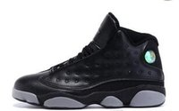 Wholesale Army Navy Game - Cheap XIII MENS retro 13 basketball shoes black cat Bred Navy Game hologram grey toe Flint Grey 13s Athletics Sport Sneaker Boots