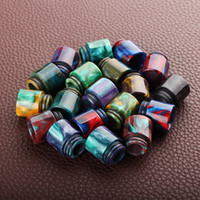 Wholesale Resin Wholesale - Newest Epoxy Resin Drip Tip Colorful Resin Wide Bore drip tips for TFV8 TFV12 Atomizers Tank Kennedy 24 RDA RBA Mods