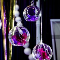 Wholesale Candles Containers - 30 PCS Transparent Acrylic Ball Vase Bowl Hanging Mount Flower Plant Candle Container Home Wedding Party Christmas Decoration