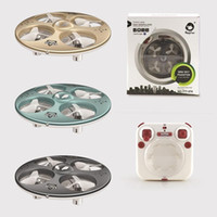 Wholesale remote control flying ufo - Telecontrol UFO Mini Sound Recording Flash Colors Remote Control Flying Saucer Four Axes Helicopter Eco Friendly Material 5CM 69sb I1