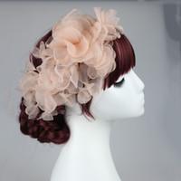 Wholesale Lace Headpieces For Brides - headpieces for wedding wedding headpieces flowers silk flower headdress for bride dress headdress accessories bridal party accessories