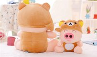 20151132 Cartoon Mcdull Pig Peluche ours Jouets Totoro minions Cos Peluche Porc Lovely Anime Animal Dolls For Girls