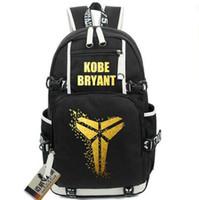 Wholesale Black Bean Bags - Kobe Bean Bryant backpack Basketball MVP school bag Legend daypack Golden word schoolbag Outdoor rucksack Sport day pack