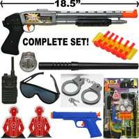 Wholesale Dart Rifles - MACHINE GUN TOY SOFT DART SHOTGUN SWAT ASSAULT POLICE RIFLE COMPLETE SET