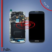 Wholesale Digitizer For S4 - For Samsung Galaxy S4 i9500 i337 M919 Touch LCD Screen Digitizer Replacement with frame & free DHL shipping