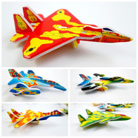 Wholesale 3d Model Child - 360pcs lot Mini fighter aircraft plane Model paper 3D puzzles toys for children gift Intelligence toys