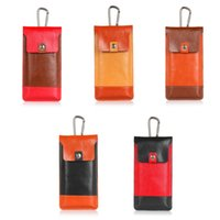 Universal Color Block Leather Pouch block belt - Fashion Universal Color Block Leather CellPhone Bag Outdoor Sport Phone Pouch Hook Loop Belt Holster For Smart Phone Between inch