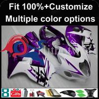 carenados violeta al por mayor-Molde de inyección Cubierta de moto violeta para Suzuki GSX-R1300 1997-2007 GSXR1300 97 98 99 00 91 92 93 94 95 96 97 Carenado de plástico ABS