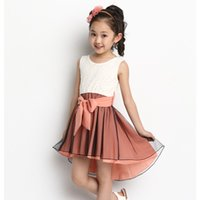 Wholesale Baby Clothes Delivery - DHL Delivery Baby Girls Dress Summer Fashion Mermaid Kids Dresses Sleeveless Casual Lace Vestido Infantil Girls Clothes