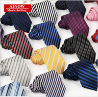 Wholesale Ties White Men Jacquard - Tie Men Business casual career tie polyester thread arrow jacquard stripe tie manufacturers wholesale father Boy friend Husband gift