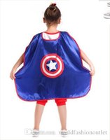 Kinder Wrap Kinder Kap Superheld Kap Kostüm für Halloween Party Super Man Iron Man Batman Captain Amerika Spider-Man Capes Accesso