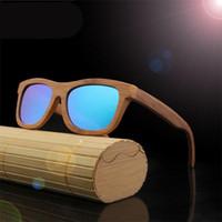 Wholesale Handmade Wood Frames - Fashion Men Women Designer Sunglasses With Bamboo Vintage Au Brand Luxury Sun Glasses With Wood Lens Wooden Frame Handmade Stent Sunglass