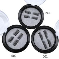 Wholesale Super Glue Hair - 12 Styles Magnetic Eyelashes 3D Mink Handmade Lashes no Glue Easy Remove False Eye Lashes Extension Super Natural Long Fake Eyelashes