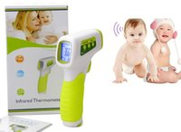 Wholesale JI Digital Thermometer Infrared Baby Adult Forehead Non contact Infrared Thermometer With LCD Backlight Termometro Infravermelh