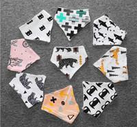 Wholesale Owl Baby Bib - Baby INS cotton bibs 2016 Newborn KIDS Burp Cloths layer girls boys cartoon animal owl watermelon pattern bibs