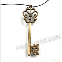 Wholesale Vintage Key Charms Antique Bronze Alloy Metal Pendant Fit Jewelry Making DIY Jewelry Accessories x18x3mm