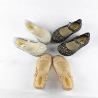 Wholesale summer breathable jelly shoes - Mini Melissa Girls Sandals Summer 2017 New Children Mesh Holes Girls Breathable Jelly Shoes Girls Sandals Shoes