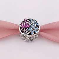 Wholesale Flamingo Bracelet - Authentic 925 Sterling Silver Beads Tropical Flamingo Charms Fits European Pandora Style Jewelry Bracelets & Necklace 792117CZS