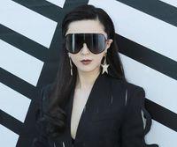 große schwarze modebrille großhandel-Mode übergroße Männer polarisierte Gesicht Sonnenbrille Frauen Sonnenschirme große schwarze Brille Anweisung Brillen siamesische Sonnenbrille