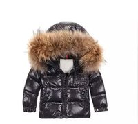 Wholesale Duck Down Jackets For Boys - Baby boy cloths Winter Coat Boys clothing 2-10 years Down Jacket For Girls clothes Children clothing Outerwear Winter Jackets Coats
