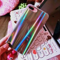 Wholesale Harajuku Case - NEW Original harajuku laser Simple Plating Phone Case For iPhone 6 6S 7 Ultra Slim Transparent TPU Back Cover Cases