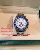 Wholesale Crystal Christmas Boxes - Men's sale Christmas gift Luxury Sapphire Crystal 116688 Blue Ceramic Bezel Rose Golden Perpetual Automatic Movement Mens Watches box