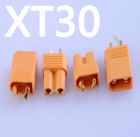 Wholesale gold plated banana plugs - XT30 Yellow Battery Connector Set Male Female Gold Plated Banana Plug for Helicopter