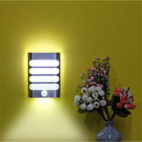 Wholesale pathway lighting for sale - Group buy Rechargeable Night Light with Motion Sensor LED Wireless Wall Lamp Night Auto On Off for Kid Hallway Pathway Staircase