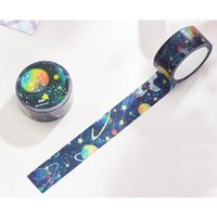 Wholesale Night Planets - 2cm*1000cm Night Sky Universe Galaxy Planet Star Washi Tape - DIY Decorative Scrapbooking Planner Masking Adhesive Tape 2016
