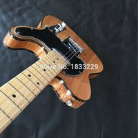 Wholesale Electric Guitars Aged - Wholesale-Free shipping American Vintage '52 Telec aged TL electric guitar,Natural TL guitar,Maple body and headstock guitar,OEM