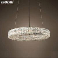 Round Good Lustre en cristal Elegant Crystal Drop Lustre pour salon Hôtel Project Cafe Restaurant Luminaires Suspendue lampe