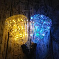 LED String Light zucca Bulb Holiday Bulb Ball Shape Vintage Globe Edison Lampadina LED Starry String Lights-Colore Muti