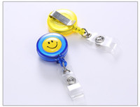 Wholesale Promotional Water Bottles - Smiley badge easy to pull buckle easy to pull retractable buckle waist buckle sets of documents spreaders transparent promotional card sets