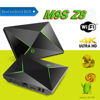 Z8 M9S Android Smart TV BOX Amlogic 2G + 8G 4K Streaming Media Player Completamente caricato add-on 2.4G + 5G BT4.0 lettori multimediali video VS T95X A95X
