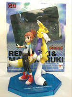 Hot Sale Anime Digital Monster Makino Ruki Digimons Renamon Figura de PVC Novo na caixa