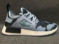 Wholesale Open Toe Skull Shoes - 2016 NMD XR1 x Mastermind Japan Skull Men's Casual Running Shoes for Top quality Black Red White Boost Fashion Sneakers Size 40-44
