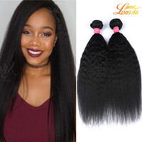 Wholesale italian hair colors resale online - Brazilian Virgin Hair Kinky Straight Pieces Human Hair Weaves Italian Yaki quot quot Natural Color Kinky Straight Hair