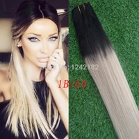 Novo item! Brazilian Ombre Hair 1b / platinum Blonde cabelo humano Straight Weave Cheap 613 Ombre Hair Extensions Mixed 10 '' - 30 ''