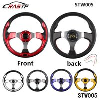Wholesale Car Wheel Top - RASTP -TOP SELLING 320MM 13 Inch MOMO Racing Car PVC Modification Mini Drifting Steering Wheel RS-STW005