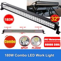 """Wholesale Rescue Boats - 32"""" 180W LED Light Bar 14400lm 60pcs 3W Combo Beam for Off-road SUV Boat Truck Jeep Pickup Tractor Emergency & Rescue Atv Ute Trailer"""