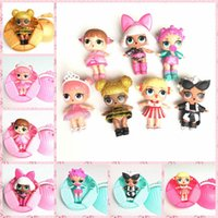 Wholesale Mini Doll Dress - 2017 bursts of 10cm surprise doll LOL SURPRISE DOLL girls creative dress up toys wholesale free shipping