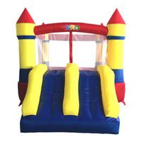 aufblasbare amusements groihandel-HOF Freies Verschiffen-Doppel Slide Hüpfburg Inflatables Springen Pool Glücklich Vergnügungspark für Kinder gesunde Übung