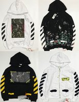 Wholesale New Style Hoodies Men - New Hot Fashion Sale Brand Clothing Off White Men Hoodies Print Cotton Shirt Offwhite men Women jacket Hoodies 18 styles S-XL