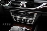 Wholesale Audi A6 Console - Car center console panel decorative cover trim Stainless steel strip for Audi A6 C7 interior accessories 3D sticker