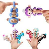 Wholesale Latex Foam Wholesale - Fingerling Interactive Baby Monkey Boris Finger Toys Electronic Smart Touch Hand Christmas Gift Intelligent Monkey Doll Cute Lovely Funny