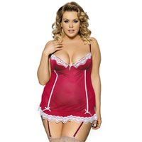 Wholesale Stretch Pajamas - Europe and United States sexy stretch satin falbala bud silk pajamas and attractive Sophie lingerie plus-size appeal nightgown