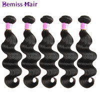 Wholesale Cheap Cambodian Virgin Weave - Brazilian Virgin Human Hair Weaves Unprocessed Natural Color Body Wave 5 Pcs Mix Length Available In Stock Cheap Items Mink Brazilian Hair