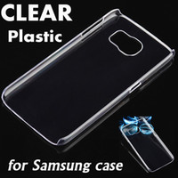 Wholesale Iphone 4s Cases Slim - Slim Ultra Thin Full Clear Crystal Transparent Hard Plastic PC Cover Case For iPhone 7 Plus 6S 4S Samsung Note 4 3 S6 edge Plus S5 G7106