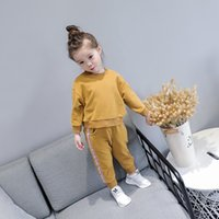 Wholesale Children Boutique Clothing Sweater - Brand Kids Clothing Girls boutique outfits Children sportswear kids Tracksuits casual set long sleeve Sweater T shirt +trousers  pants A1193
