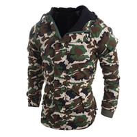 Wholesale Boy Coat Army - Wholesale- Army Camouflage Printed Men's Autumn Winter Hooded Casual Parkas Fashion Zipper Coat Male Boy Outerwear Cotton Jacket New Oct25